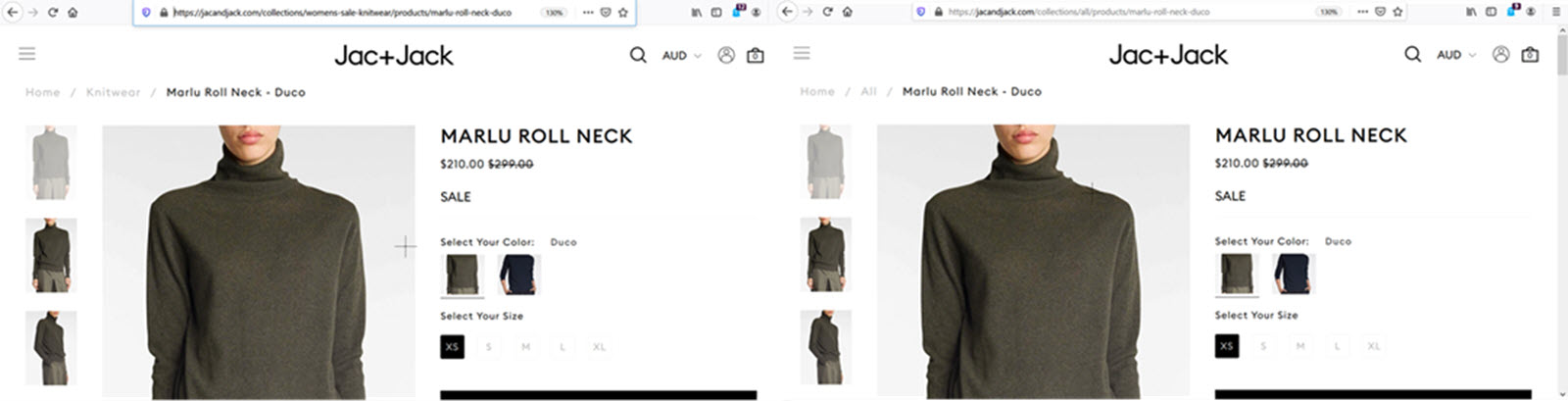 Shopify duplicate content issues example collections